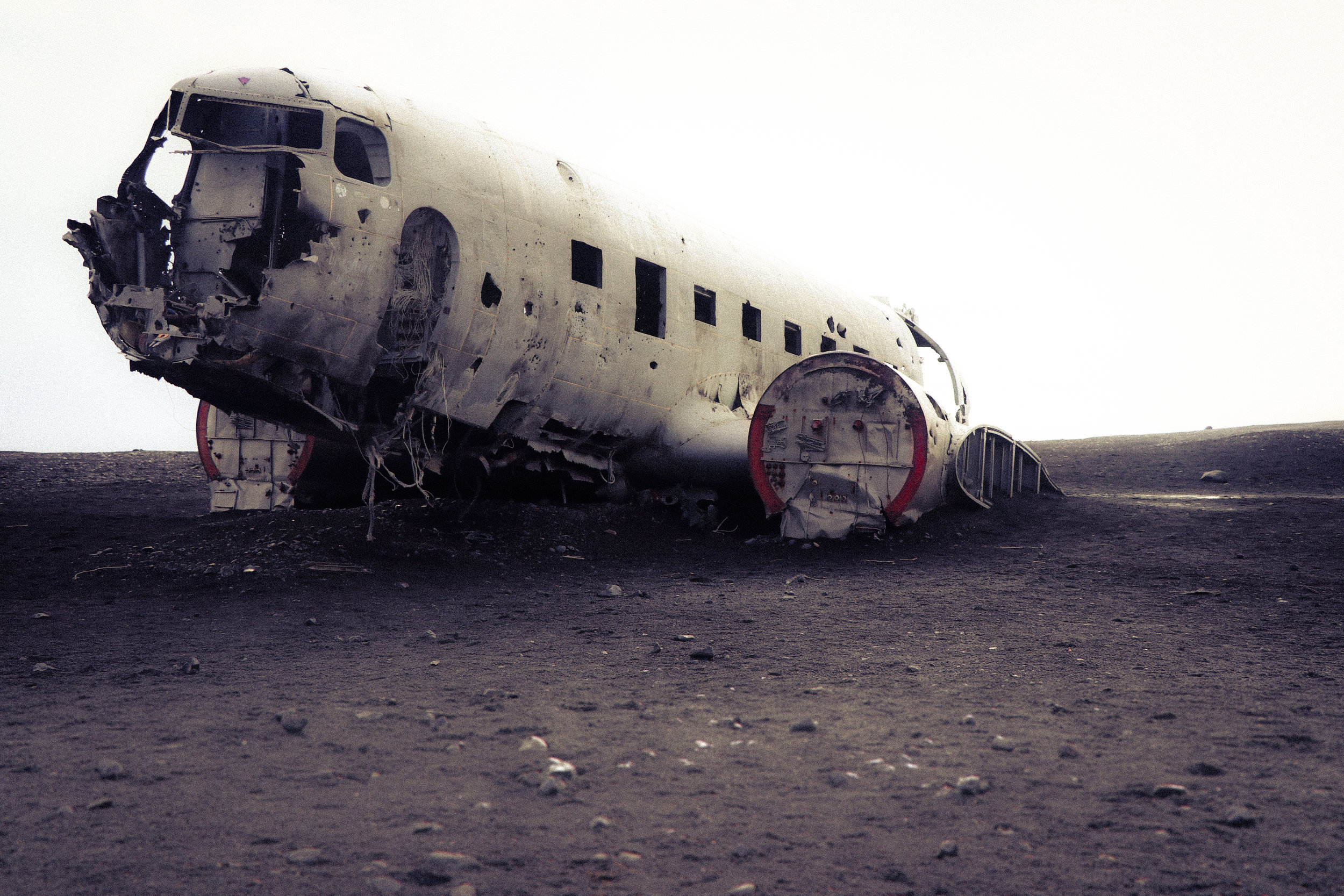 You may have to be very patient to get a shot like this. In fact, I believe I had to remove 2-3 people in photoshop even after taking this shot, but it's worth the effort right? I mean, come on, talk about a cool Instagram pic. The DC-3 plane wreck is a must visit location when you are traveling to Iceland.
