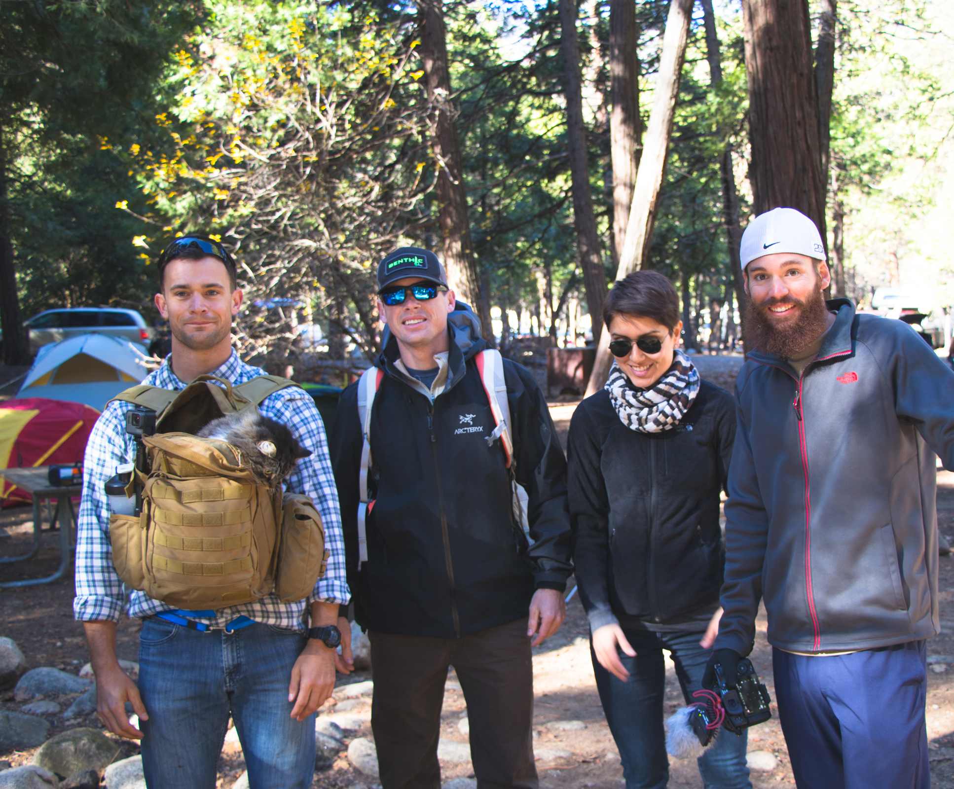 Camping in Yosemite enables awesome amounts of convenience. Here we are, shortly after waking up, ready to hit the trails with very little preparation or wasted time!