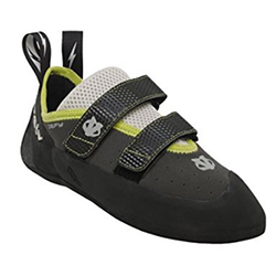 The Evolv brand is reliable but also affordable. I climb in these shoes - you'll appreciate the quick on/off velcro as a beginner. It's basically a great first climbing shoe.