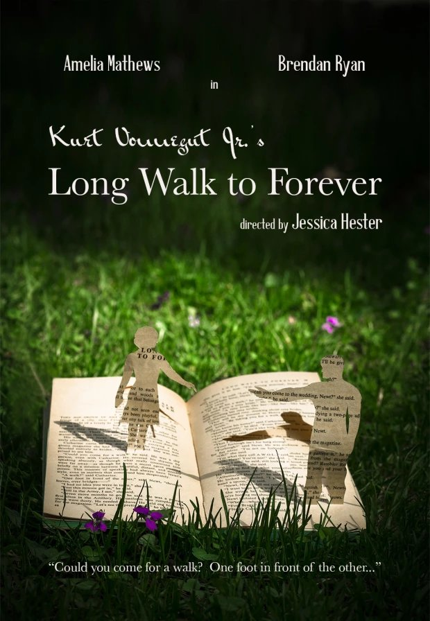 Long Walk to Forever -  Based on a short story by Kurt Vonnegutdirected by Jessica Hester. Cinematography  by Hugh ScullyStarring Ameila Matthews and Brendan Ryan