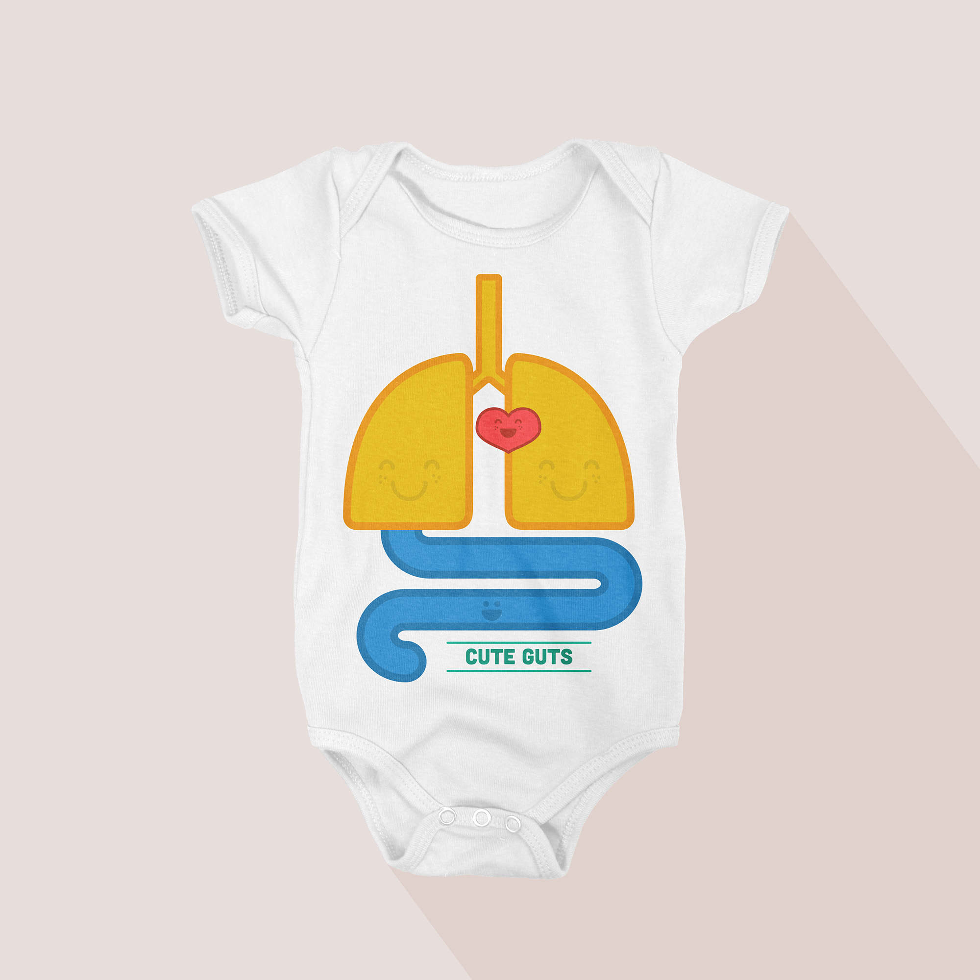 EVEN MY GUTS ARE CUTE  It's simple: Babies are cute from the inside out.   BUY THIS ONESIE