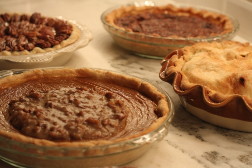 pies as far as the eye can see