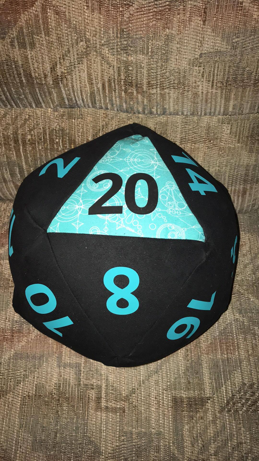 Teal and Black with an accent make the 20 really pop!