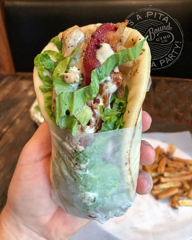 It's $6 Gyro Day! Which gyro will you choose? Lunch or dinner, dine-in or carry-out… swing by or have it delivered! Only $6 today w/ fries included. (Gyros w/ steak or seafood add $1.5)