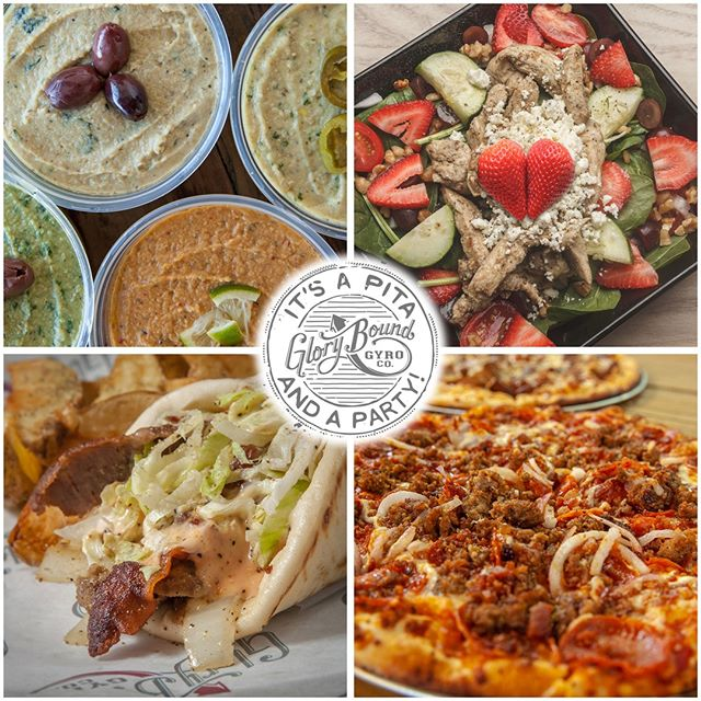 THURSDAY! $6 Gyros from 3:00-10:00pm, Happy Hour prices until 10:00pm, 1/2 off Specialty Drinks & Beer, and we're open late! #Hummus #Salads #Gyros #Pizzas #ColdBeer