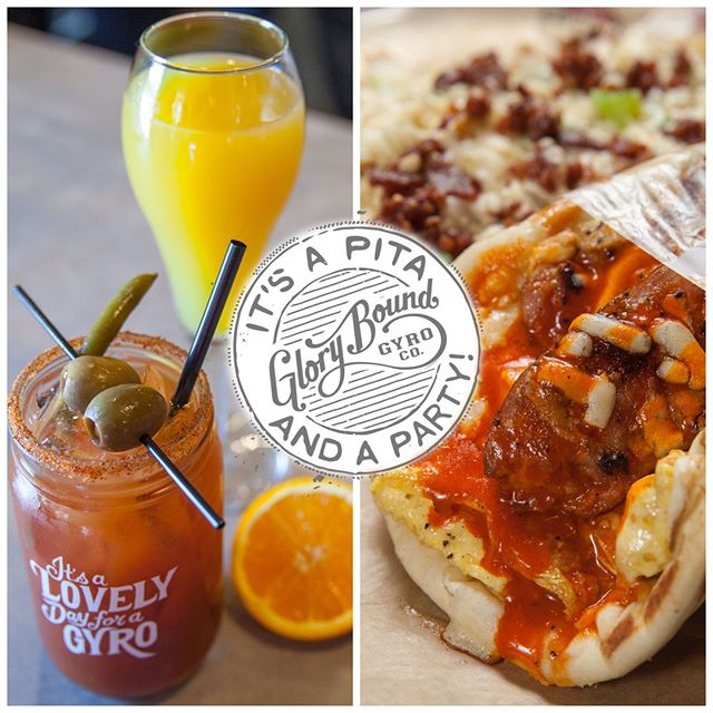 Join us for Brunch every Saturday & Sunday from 10am-2pm for specials on Breakfast Gyros, Mimosas, and Spicy Bloody Marys! #Brunch #GloryBound