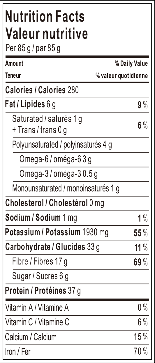 20180320 Black Soybean Spaghetti Nutrition Facts.png