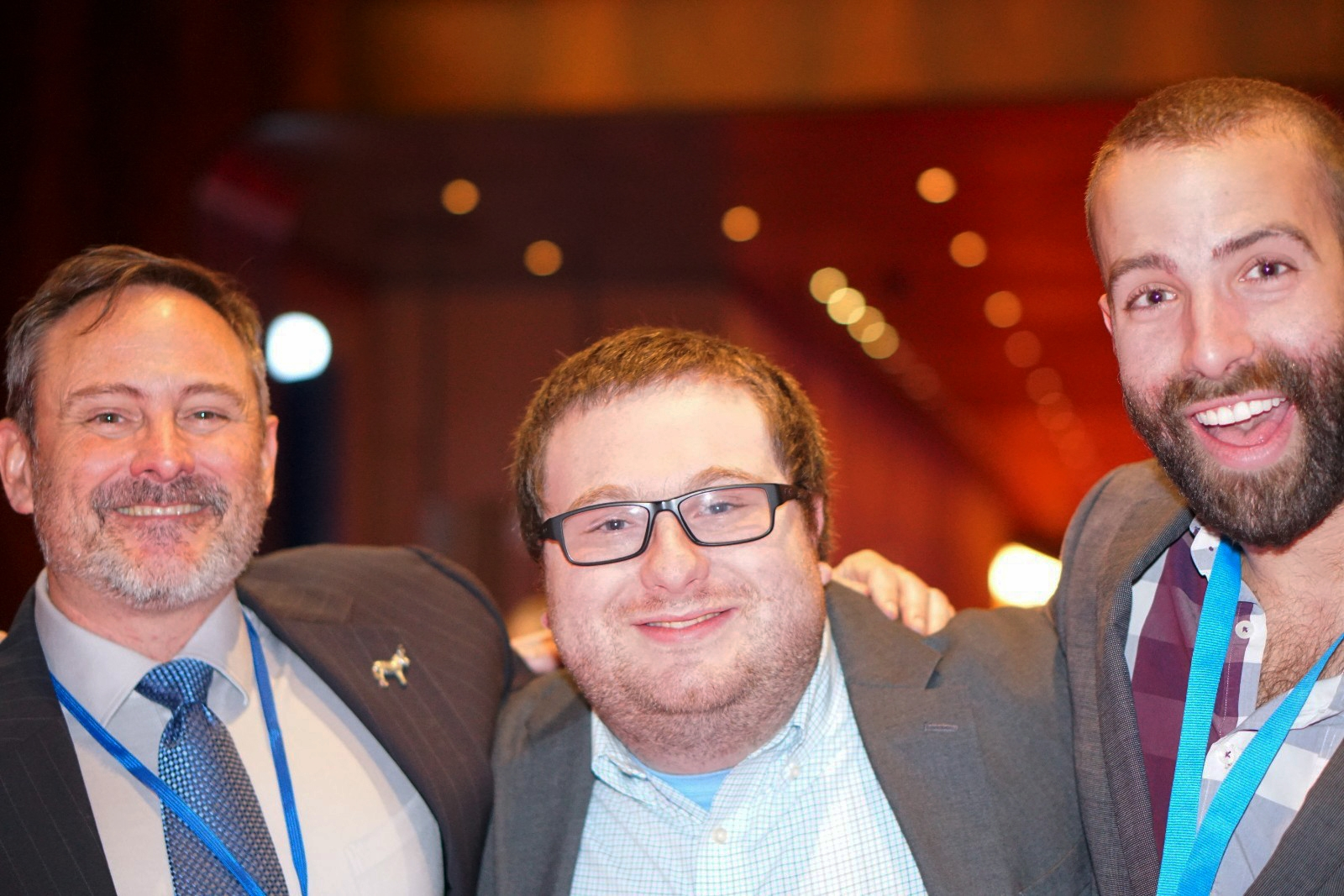Image credit: Neil Monohan. From left to right in Atlantic City: Cranford NJ Democratic Municipal Chair John Salerno, Springfield NJ Democratic Vice Chair Harris Laufer, Activate Media CEO Dave Pilmenstein