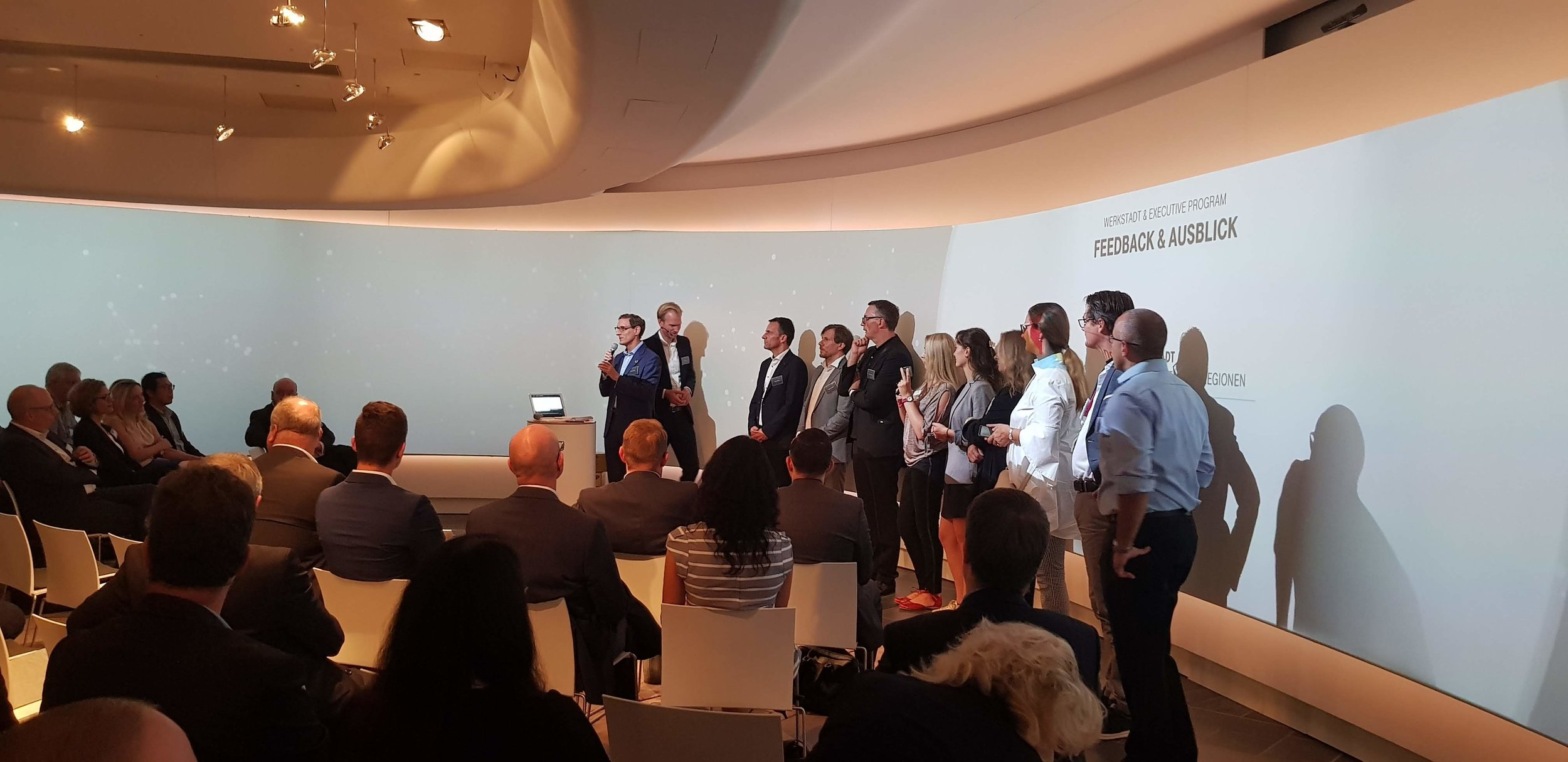 Envisioning Labs receiving a Livable Smart Cities award at Deutsche Telekom headquarters 2