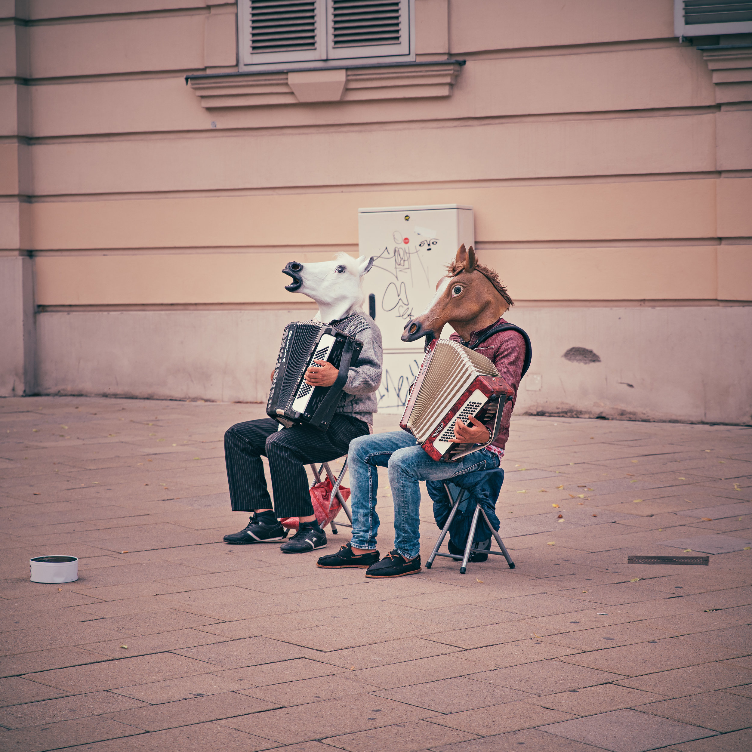 photo of musicians wearing horse masks for how to inevitably innovate blog entry