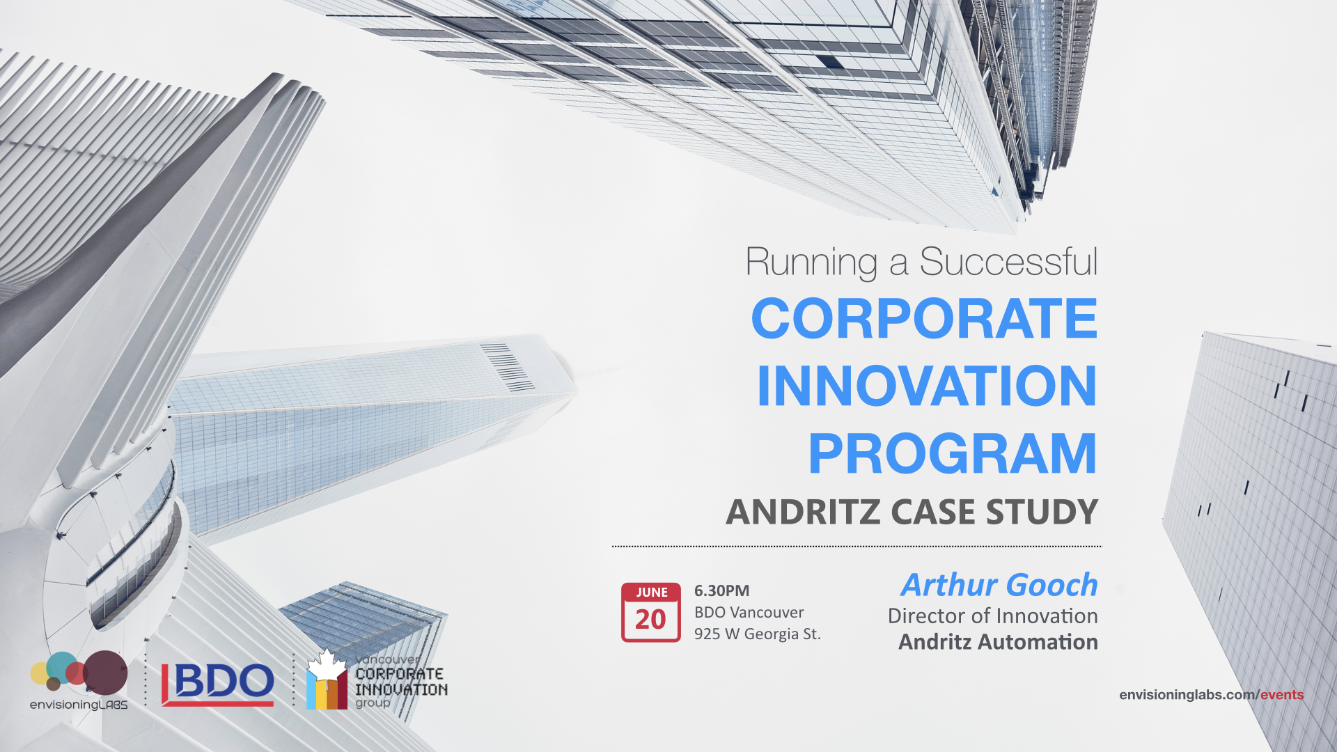 Vancouver corporate innovation labs presents Andritz