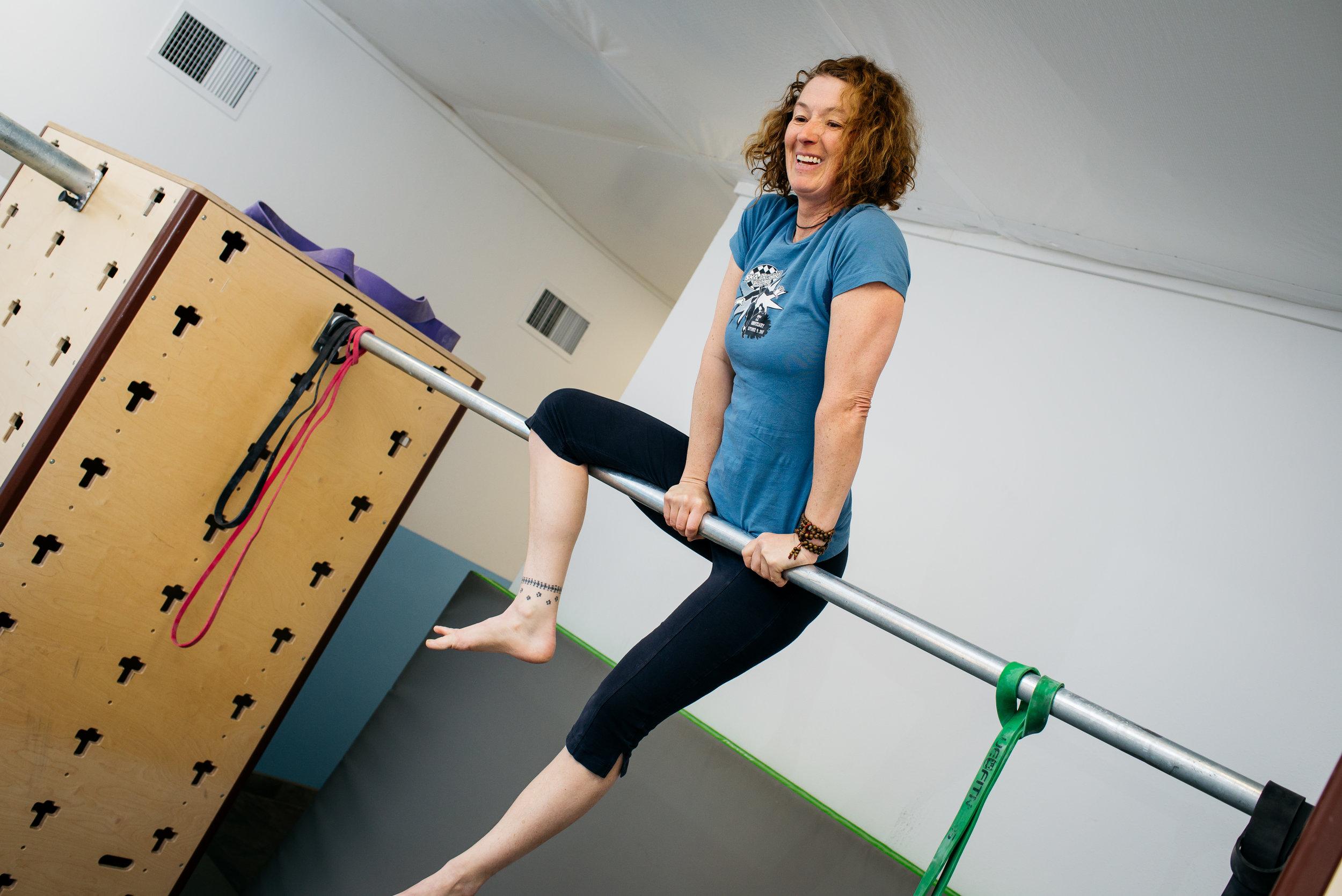 Bonnie swing up success MovNat MoveTru Albuquerque
