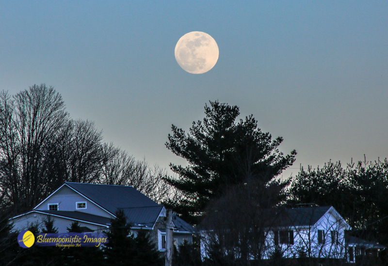 Super Blue Blood Moon rising over Jefferson NC - Jan 30, 2018   Photo by Dale R. Carlson