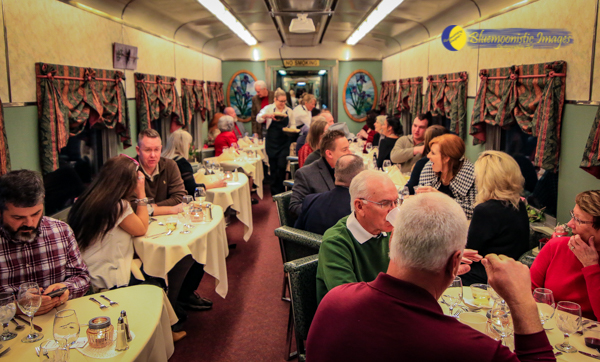Wine & Dine on the Rails - Moultrie car - Photo by Dale Carlson