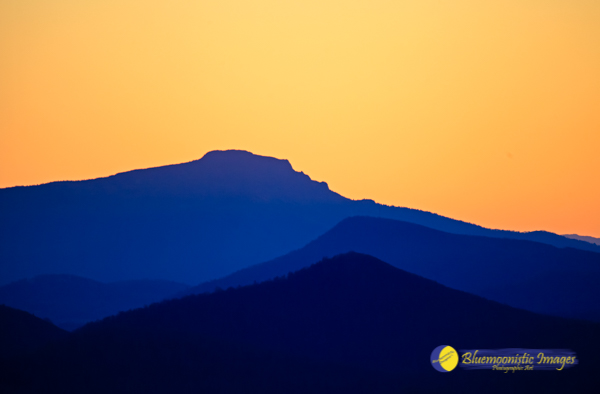 Grandfather Sunset (from Mt Jefferson Sunset Overlook) - Photo by Dale Carlson