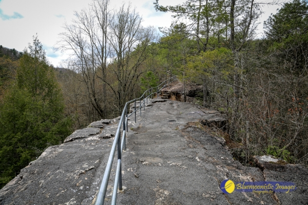Trail across the top of Backbone Tunnel -- Photo by Dale R. Carlson