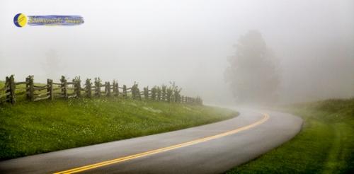 Parkway Fog - by Dale R. Carlson