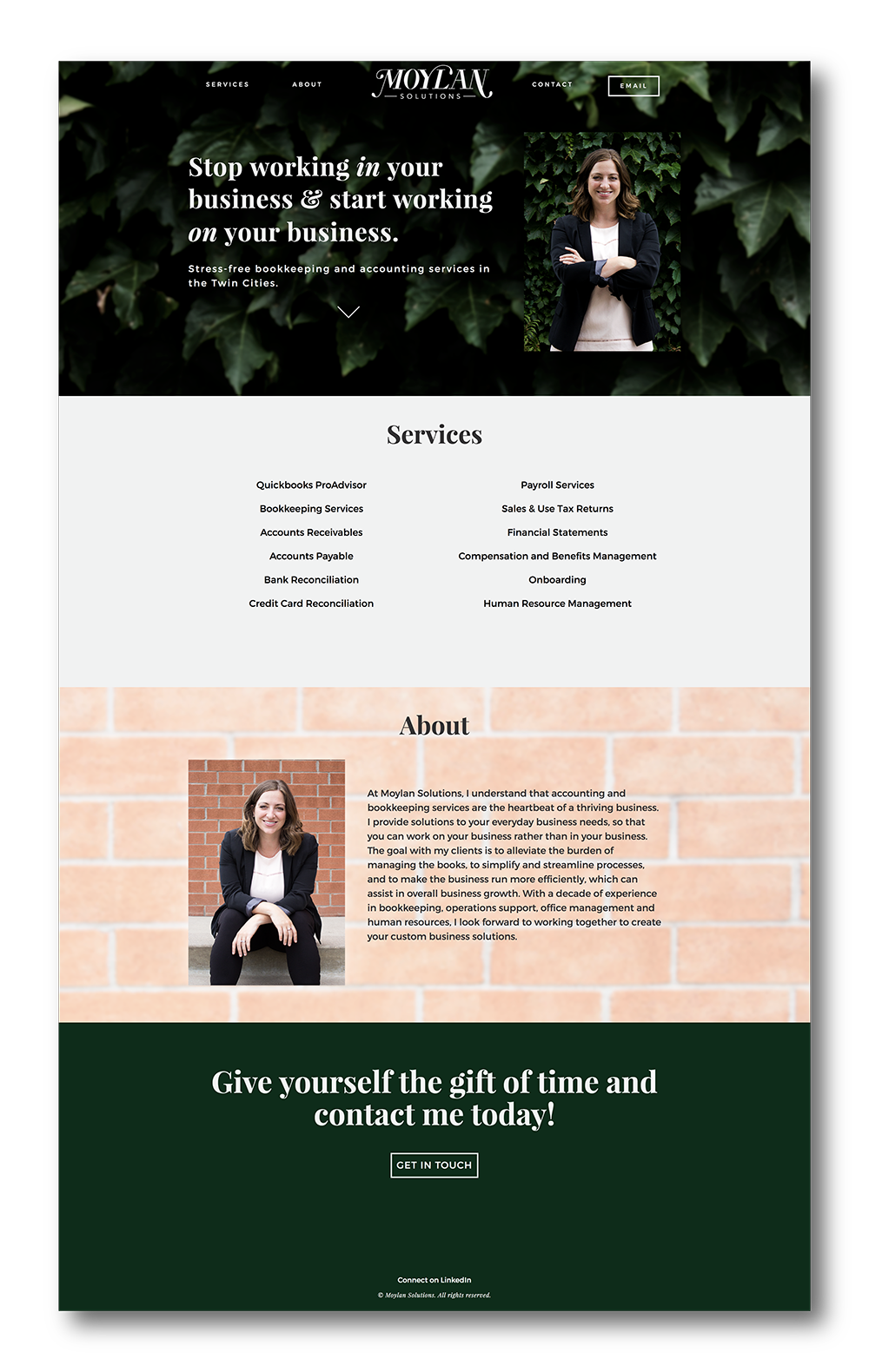 Website designed and coded by me.