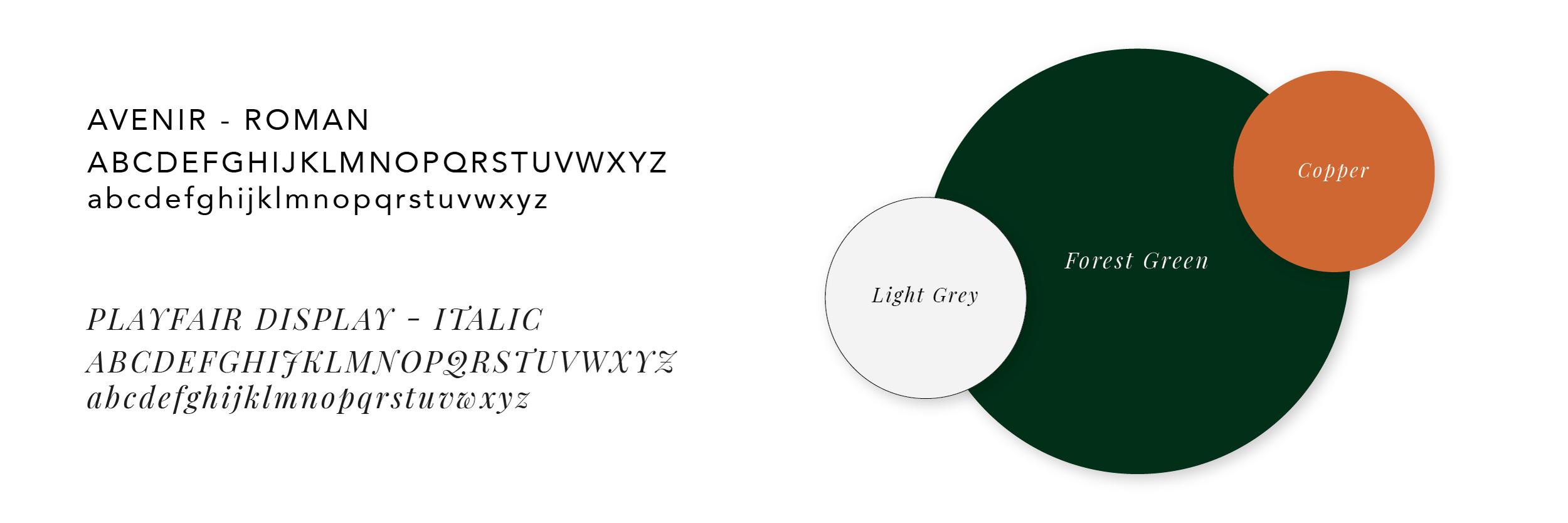 Fonts & colors.