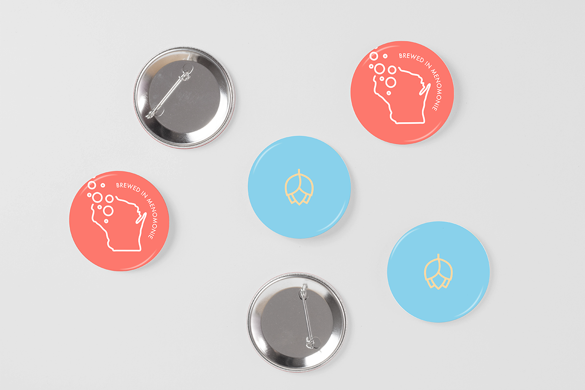 Buttons - illustrations taken from the crowler design.
