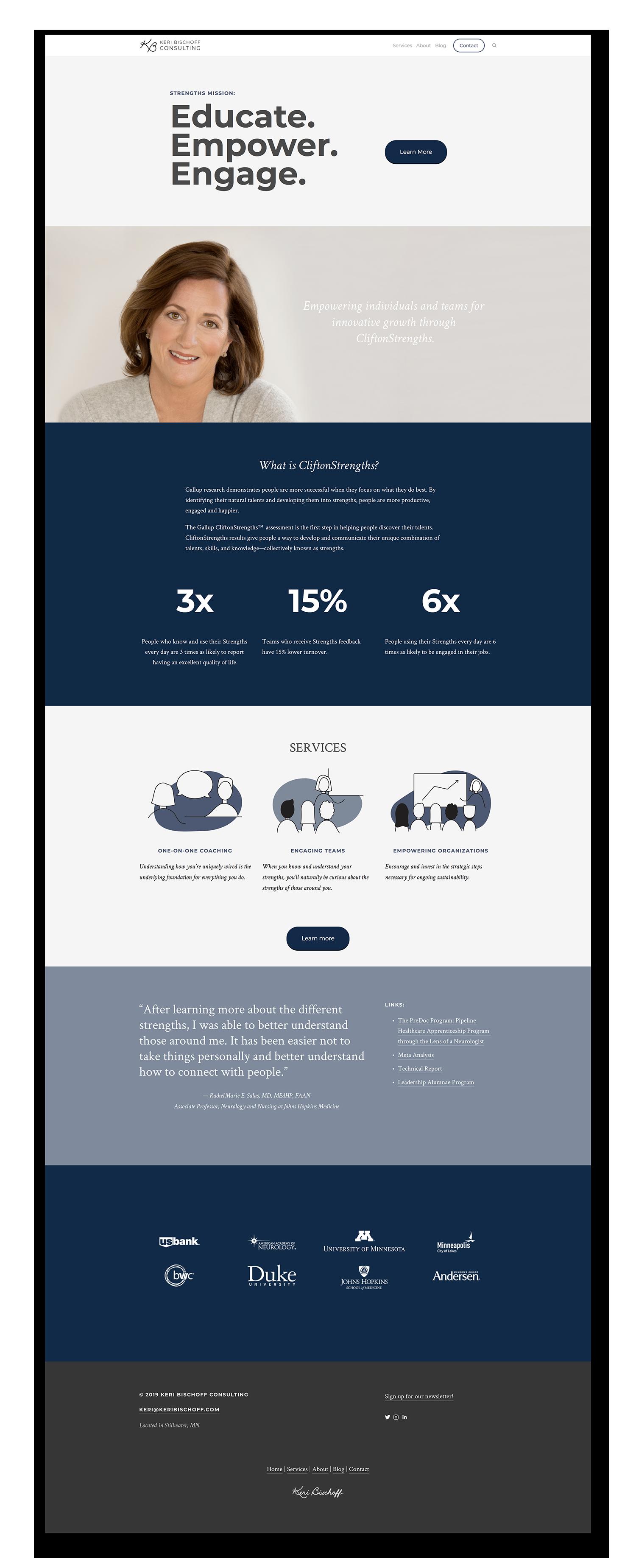 Website designed using Squarespace.