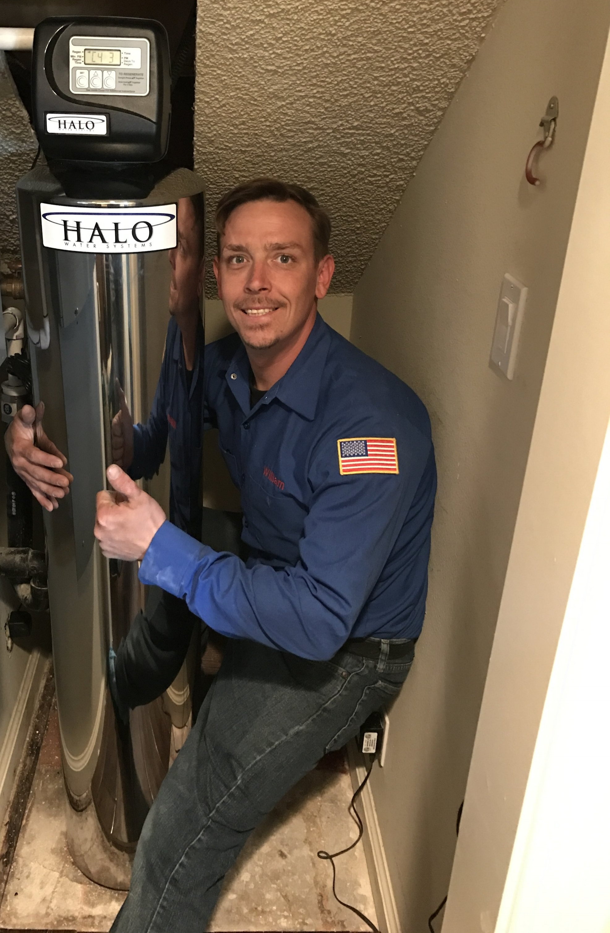 Resolved home services William with a Halo water heater