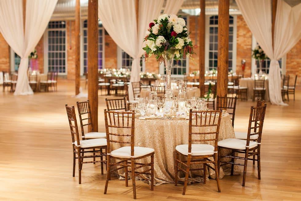 Champagne Sequin Table Design