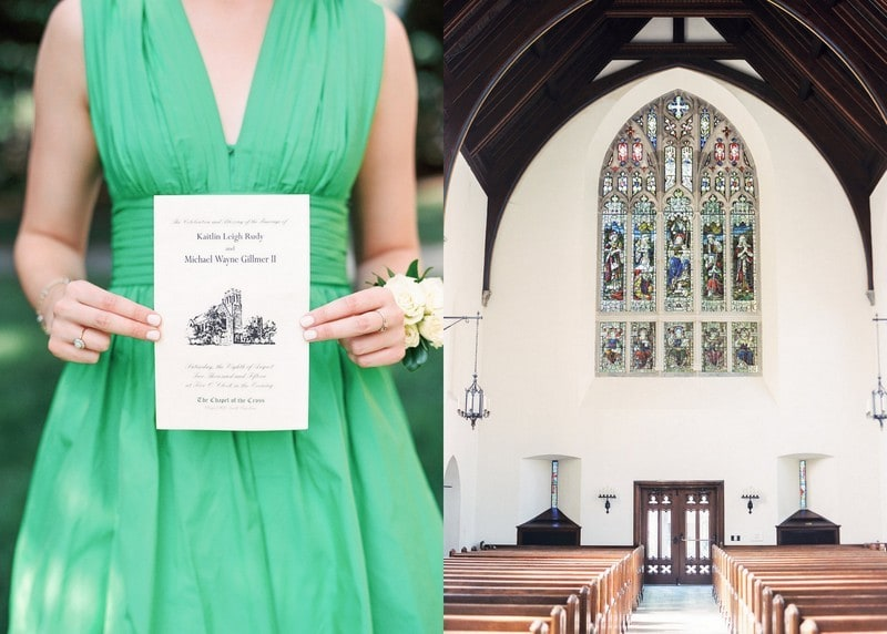 Chapel of the Cross Wedding Program