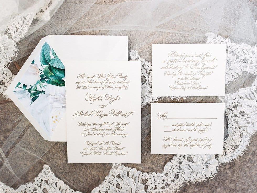 Magnolia Invitations, Calligraphy