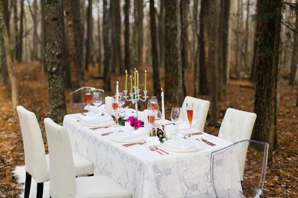 Crisp White Table
