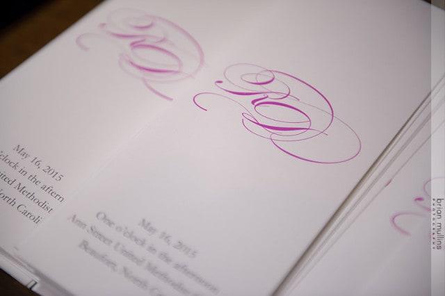 Fuschia Wedding Program