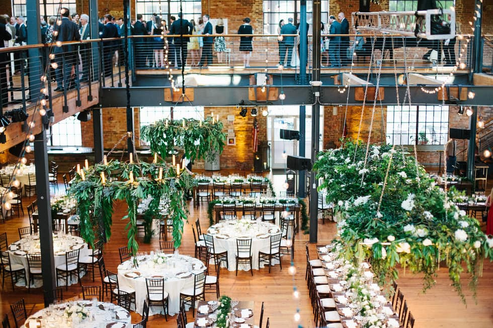 Bay 7 wedding upstairs cocktail hour