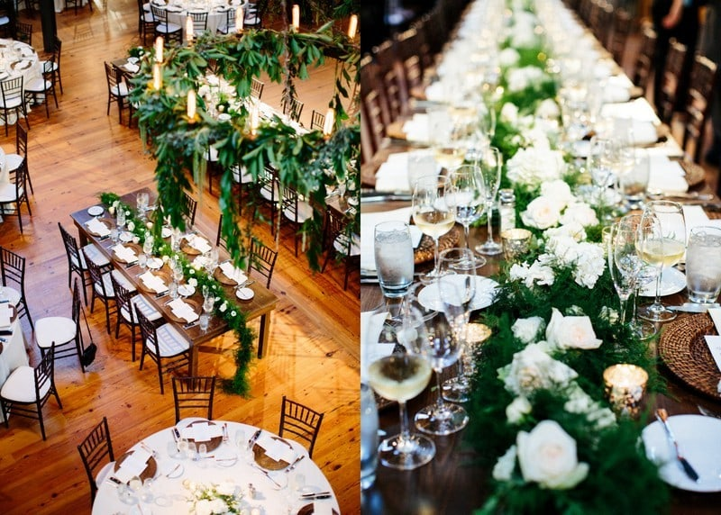 Bay 7 wedding reception tables