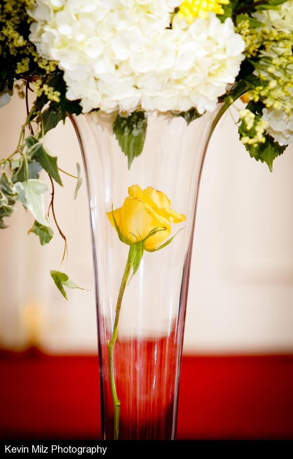 Centerpiece Yellow Rose