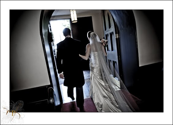 Black and white wedding at the Hilton New Bern!