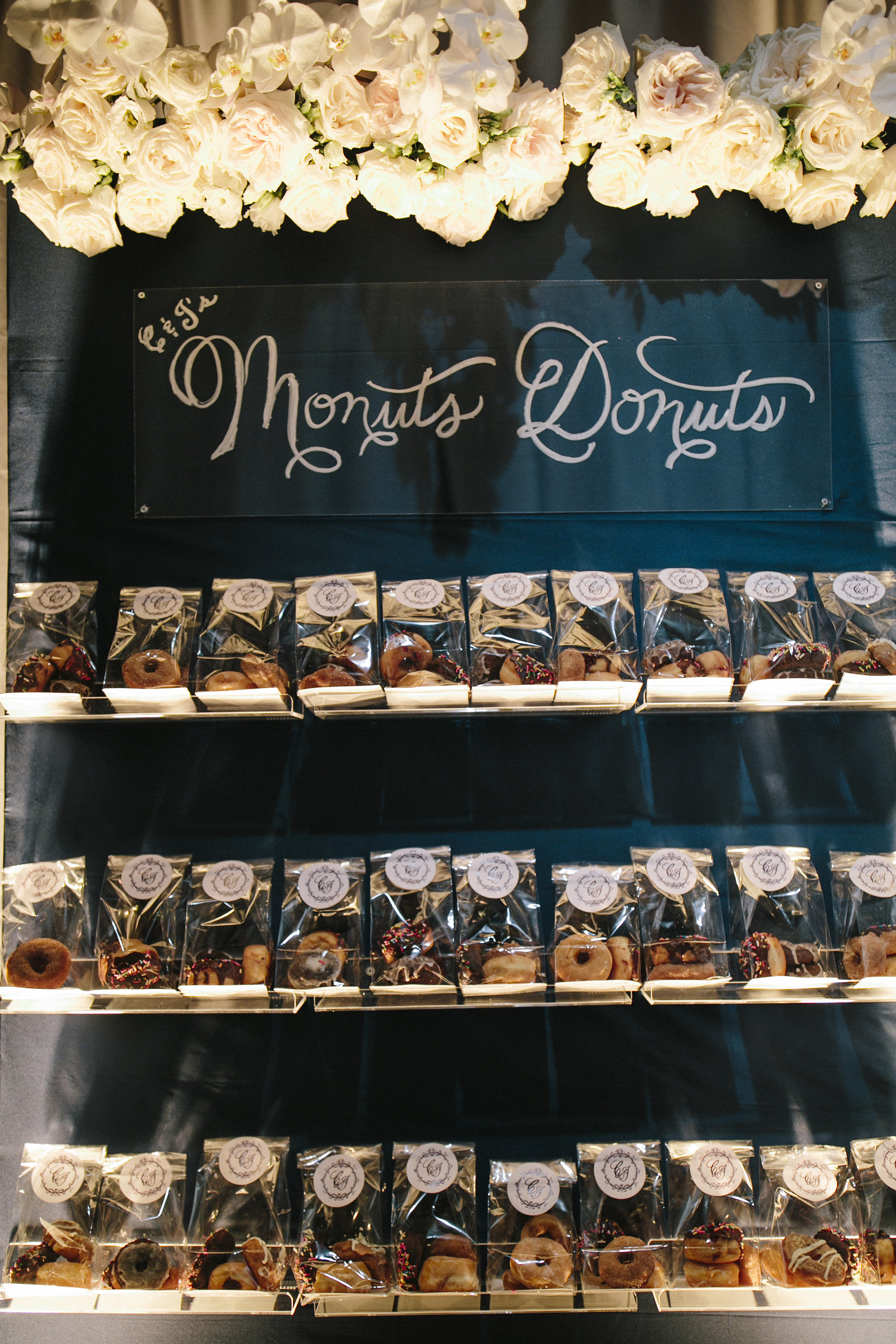Donut wedding favors by Monut's Donuts NC