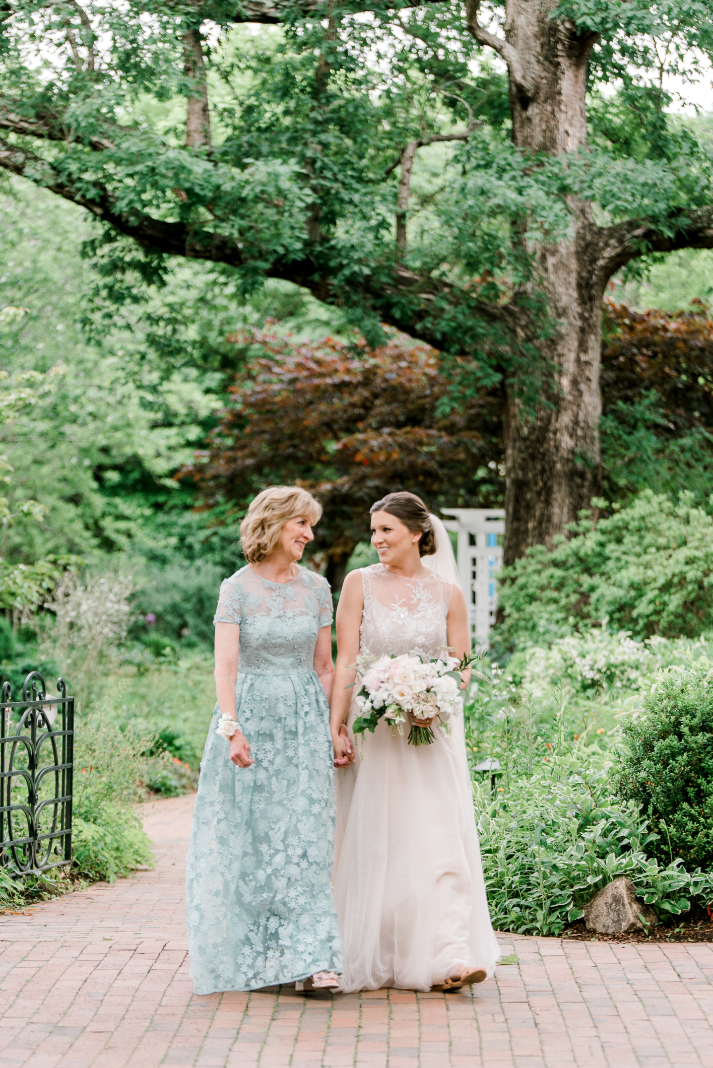 Gorgeous mother of the bride dress in blue lace