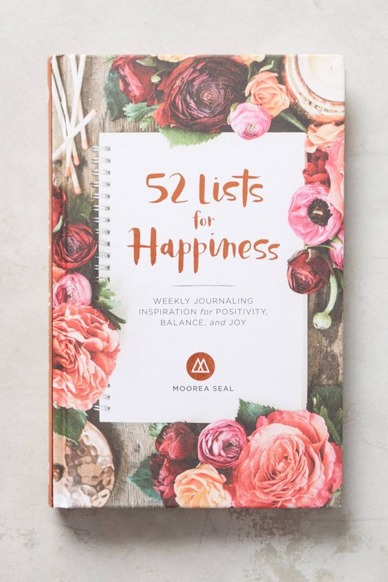 Happiness Journal - Anthropologie always comes through with some beautiful gifting options! We love this journal that focuses on making lists of happy things in your life — what better time to start counting your blessings than the most wonderful time of the year!