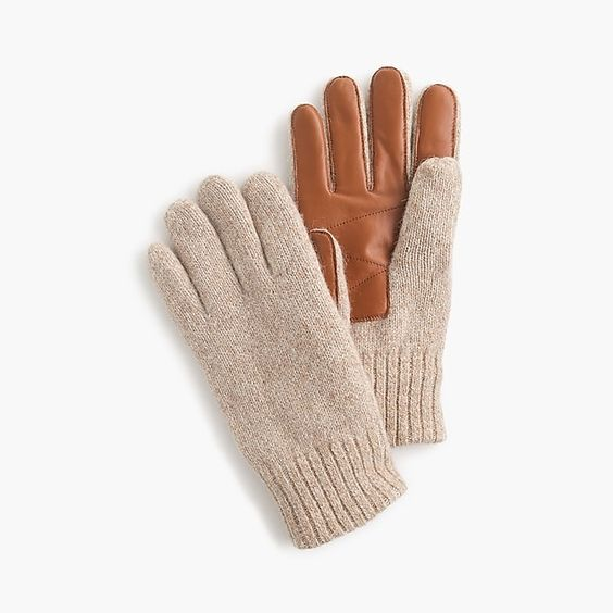 Smartphone Gloves - J.Crew is always a go-to for classic looks and staple pieces. Keep your guy warm this winter with these simple yet handsome pair of smartphone friendly wool gloves!