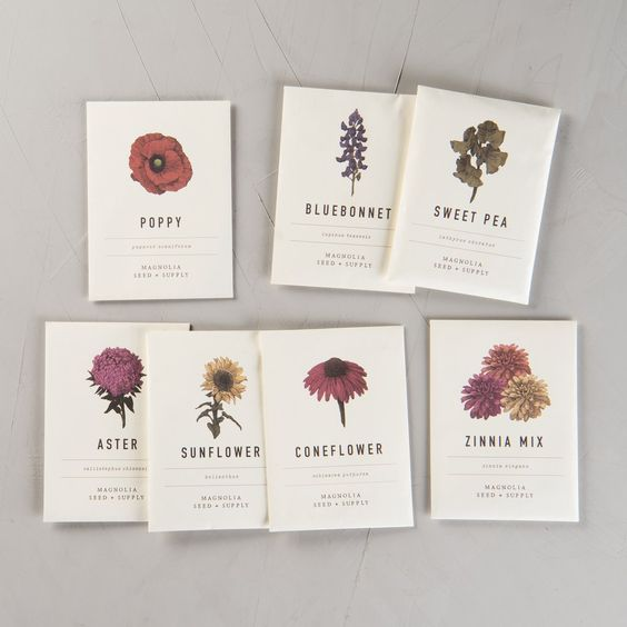 Magnolia Seed Packs - Leave it Joanna Gaines to make us all want to be gardeners. This is would the perfect little stocking stuffer for your loved one with a green thumb! There are so many to choose from - Poppies, Texas Bluebonnets (of course), Sweet Peas, and a range of fresh herbs!