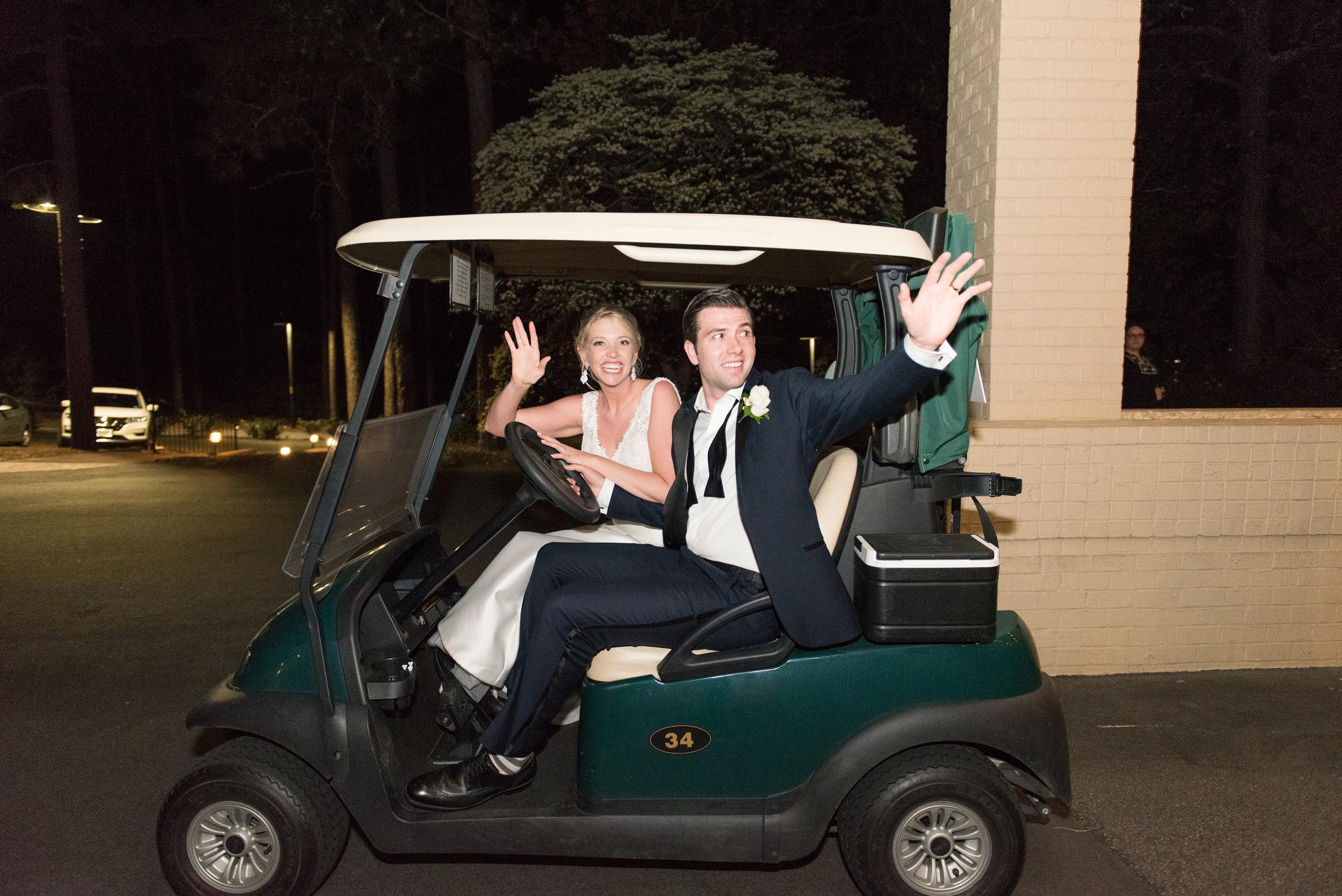 Golf Cart Wedding Exit.JPG