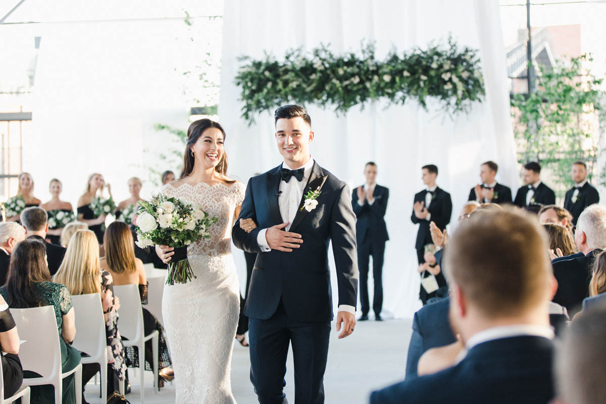 American Tobacco Campus wedding ceremony in Durham, NC