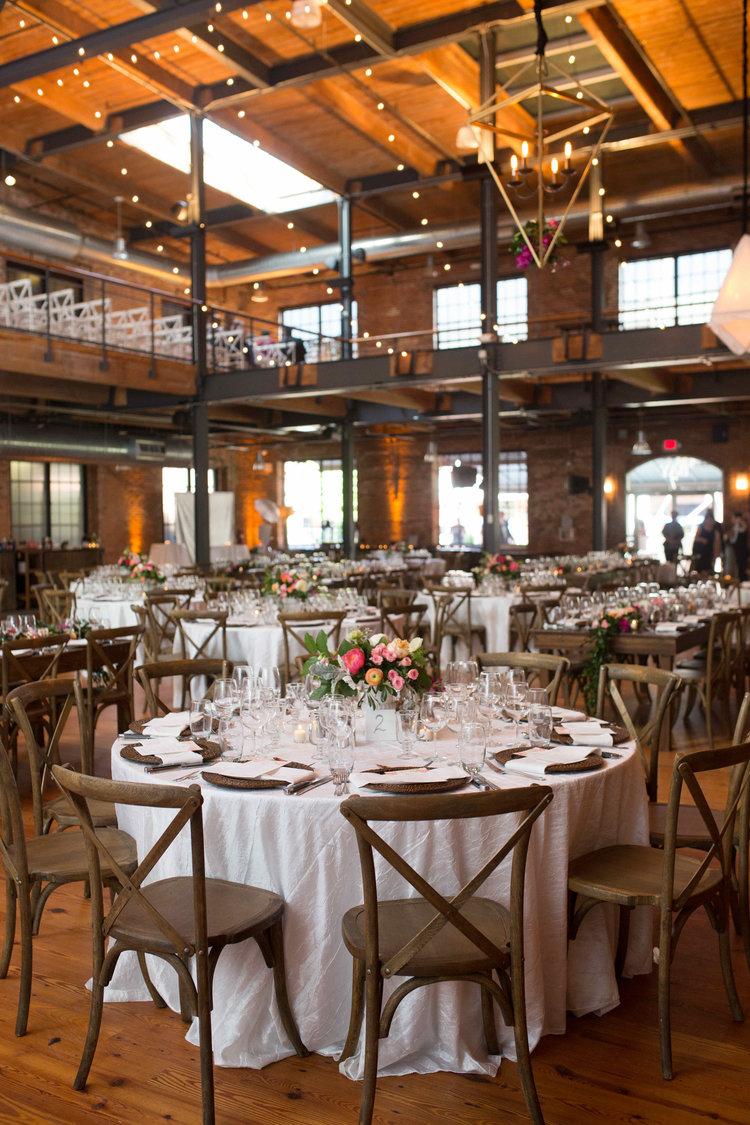 Rustic decor at Bay 7 wedding