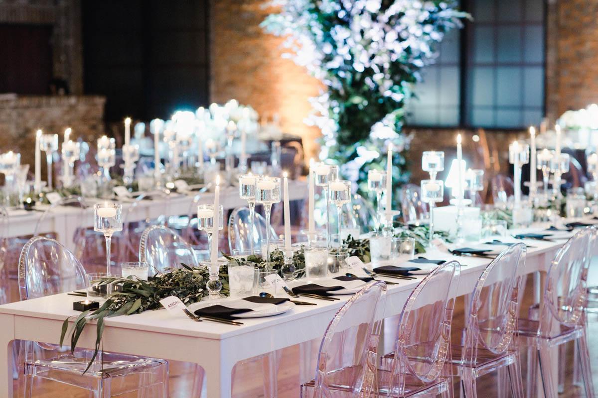 Modern Bay 7 wedding reception