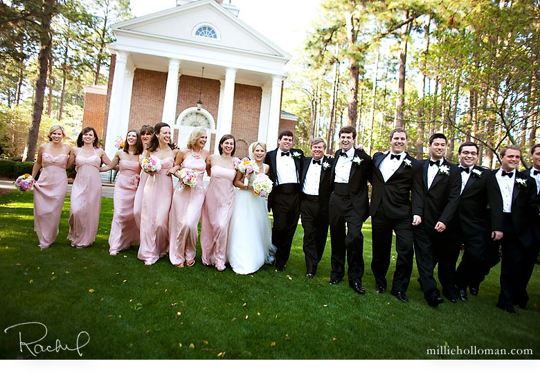 Wedding Party at Chapel