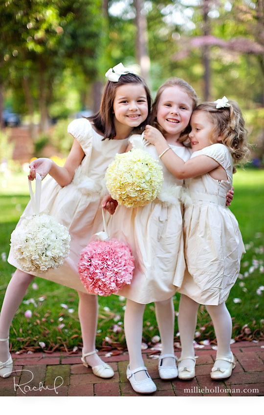Flower Girls with Pomanders
