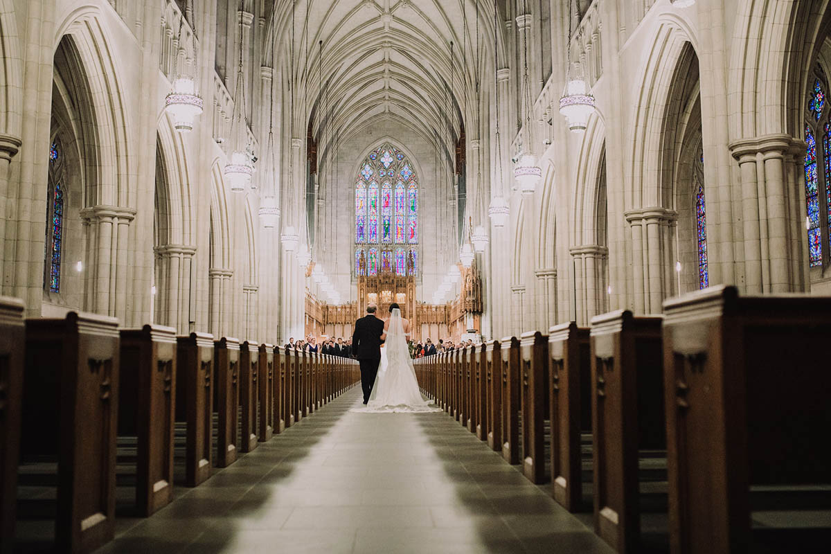 Duke Chapel wedding ceremony