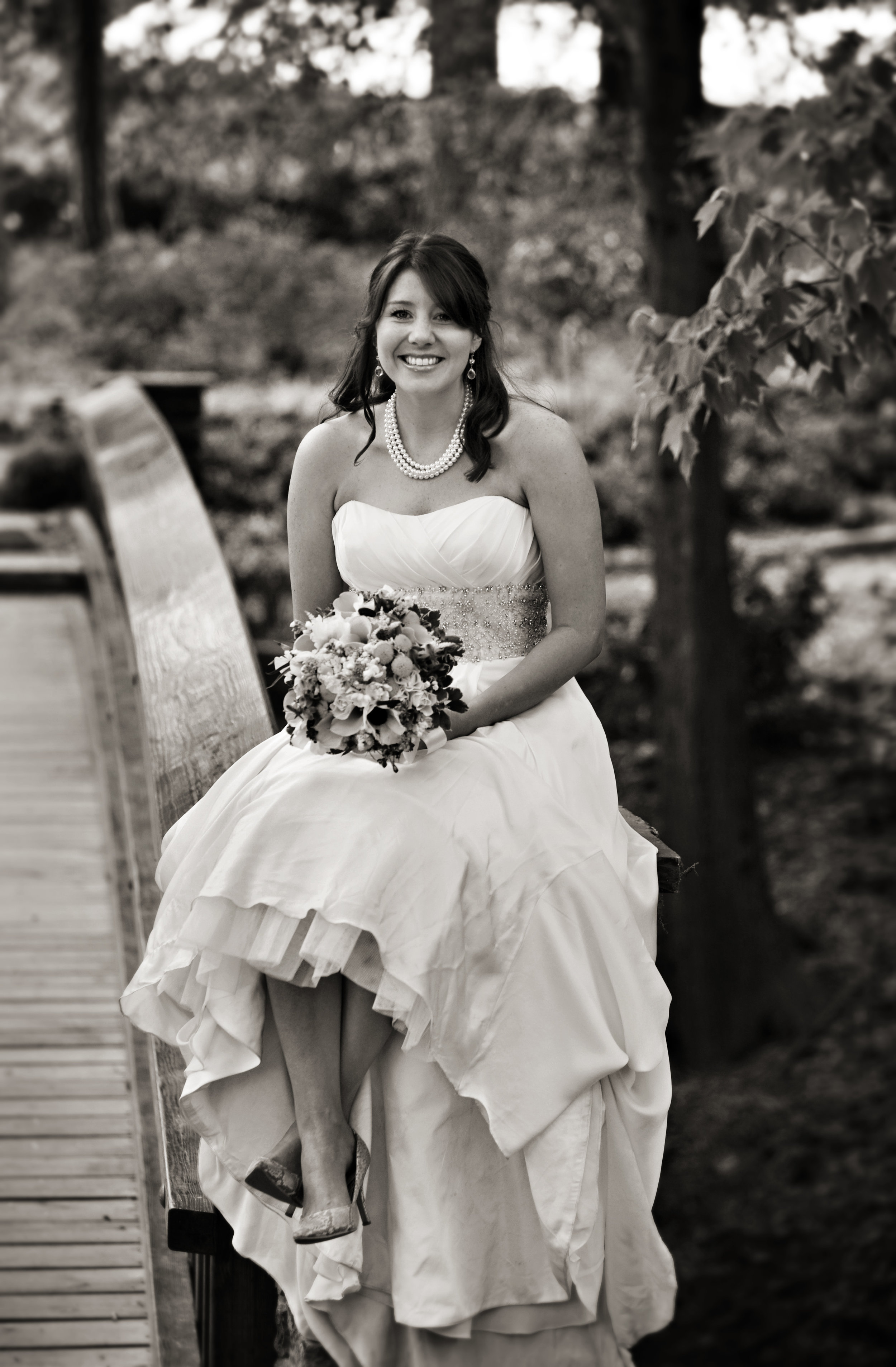 Bride on Bridge