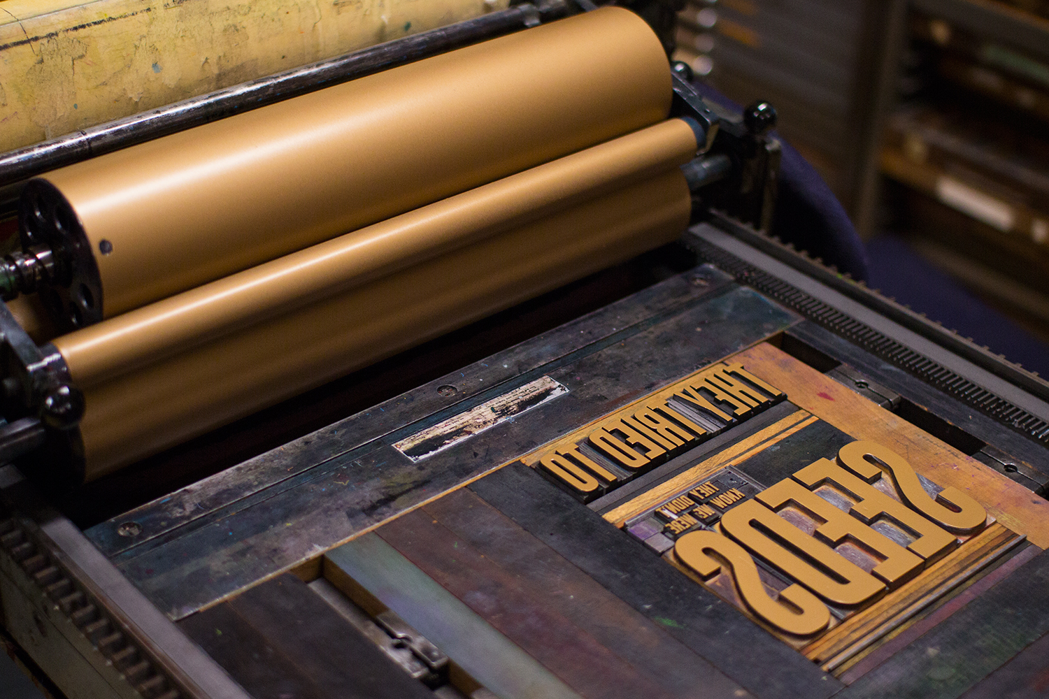 What is letterpress printing? - Letterpress is a form of relief printing, where a forme composed of movable type (or another raised surface) is inked and printed repeatedly using a press.