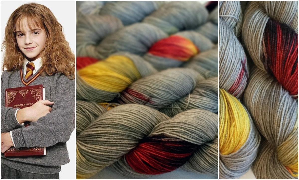 Hermione Harry Potter Fandom yarn Gryffindor